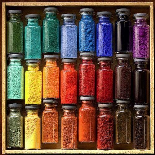 Pigments and Oxides. I'd never use them, just look at them.