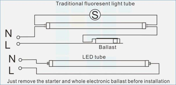 Led Fluorescent Tube Wiring Diagram With Images Fluorescent Tube Led Tubes Led Fluorescent