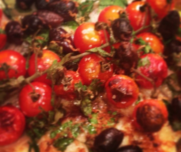 Baked Barramundi with Zucchini, Cherry Tomatoes, Black Olives and Herbs