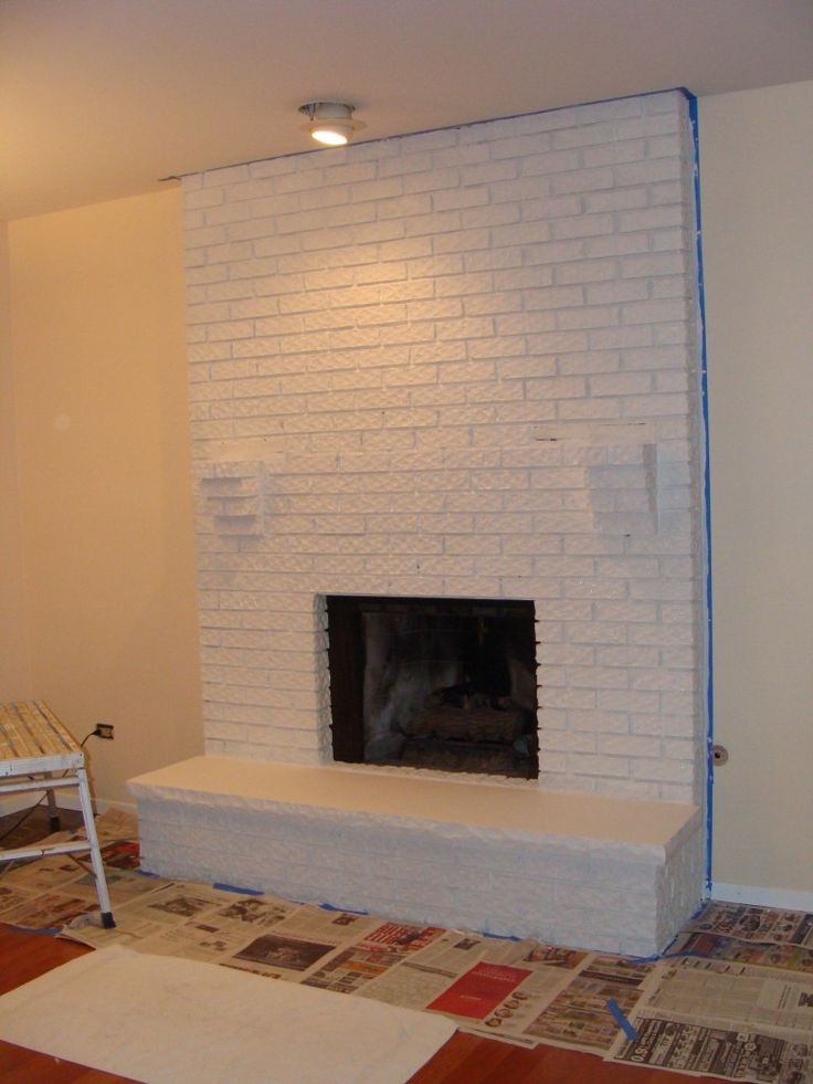 18 Best Images About White Brick Fireplace On Pinterest Wood Mantels Hearth And Wooden Shelves