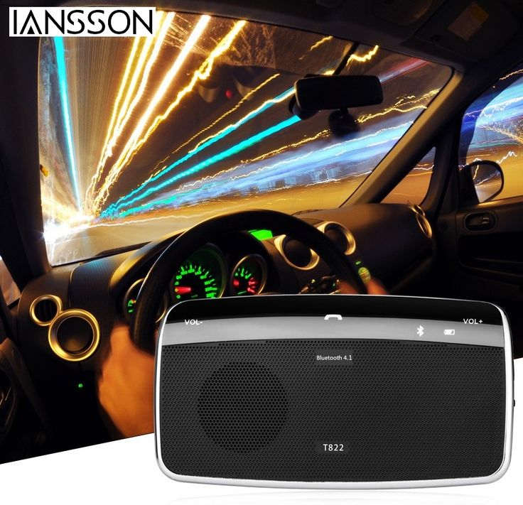 New Automobile Car Electronics Accessories Dual Phones Connecting Hands Free Bluetooth Car Kit Speaker for Iphone Smartphones