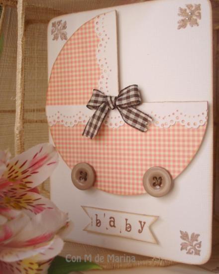 tarjeta de felicitación  cartulina decorada dibujo en relieve