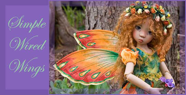 Make a pair of simple wired wings that slip into a pocket on the back of your fairy's bodice.