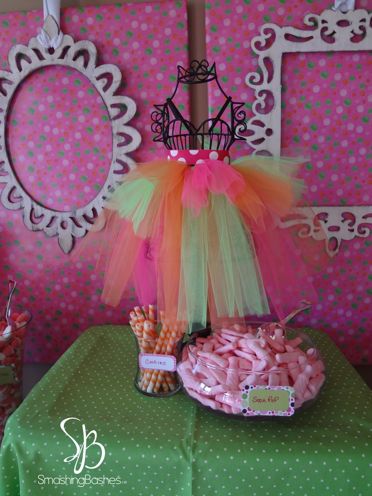Pink Green And Orange 1st Birthday Party Party Ideas Pinterest