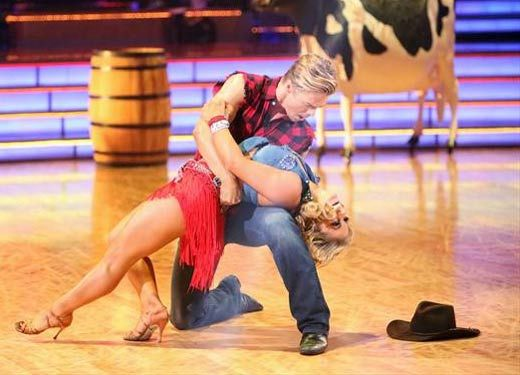 """Losing Derek today was heart-wrenching,"" said Shawn Johnson on Derek Hough's ""pain and frustration"" about bowing out this week."