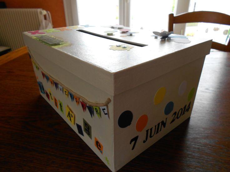 Urne anniversaire 1 an c t droit th me chouette par p 39 t oeuf anniversaire pinterest - Fabriquer une urne anniversaire ...