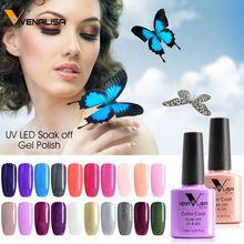#61508 Venalisa Suministro de 60 Nuevos Colores Gel Laca de Uñas de Gel Soak Off Gel UV LED Nail Polish(China)