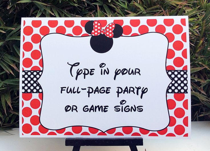 Instantly download Minnie Mouse Birthday Party Printables, Invitations & Decorations! Personalize the templates easily at home & get your party started now!