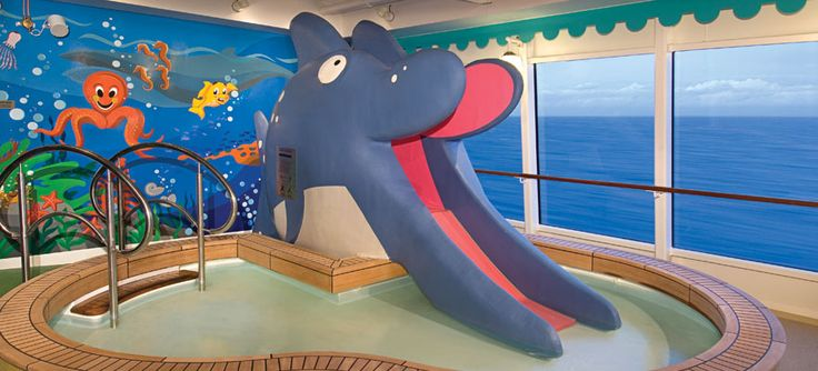 The Sapphire Kid's Pool features slides and paddling pool. The Sapphire Pool and hot tub are also nearby. Available on Norwegian Jewel