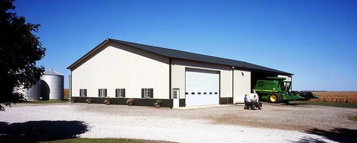 49 best images about combination farm shops machine for Pole barn equipment shed