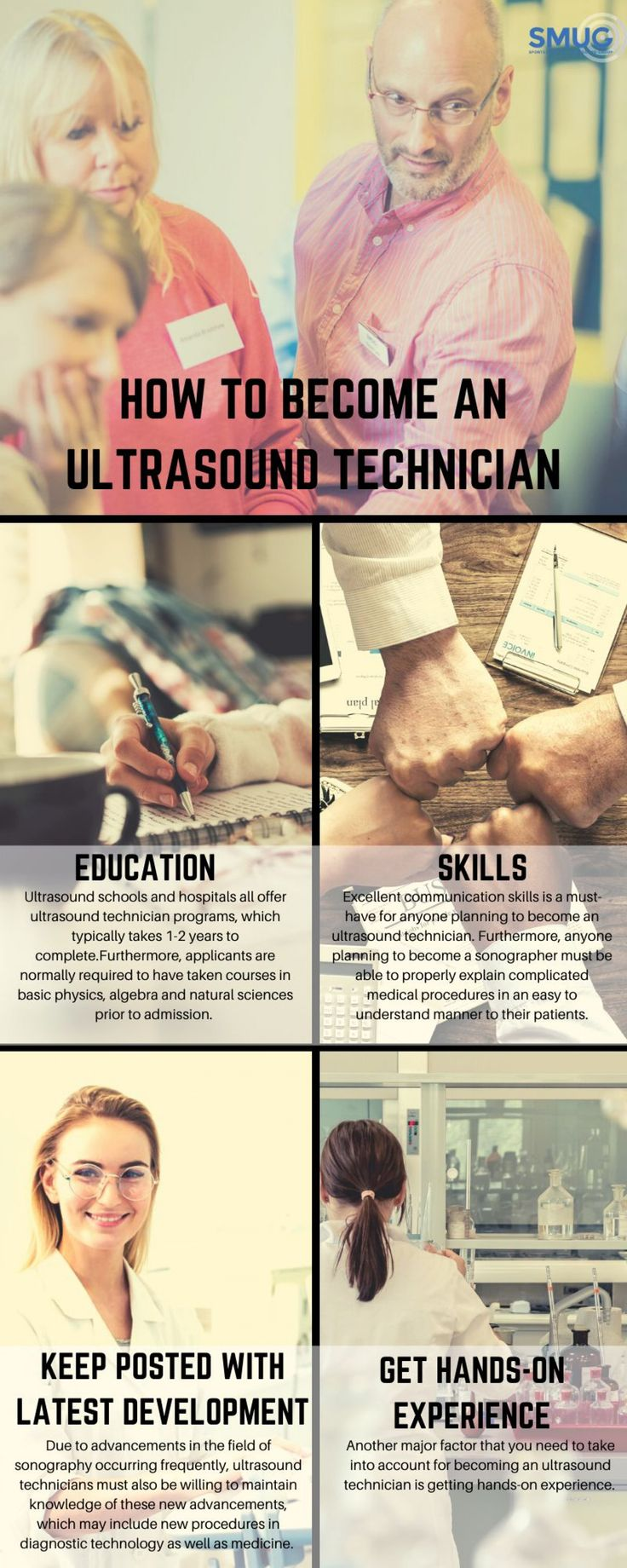 How to an ultrasound technician uk visually