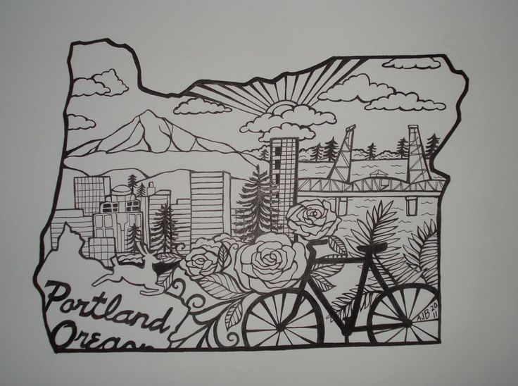 portland state outline - too detailed/busy for me but it looks cool
