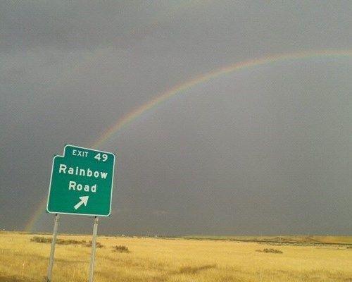 Rainbow Road. Mario Kart Has Prepared Me for This.