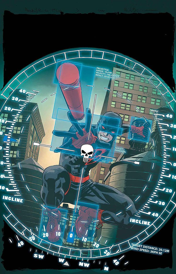 Daredevil / Punisher #3 by Reilly Brown *