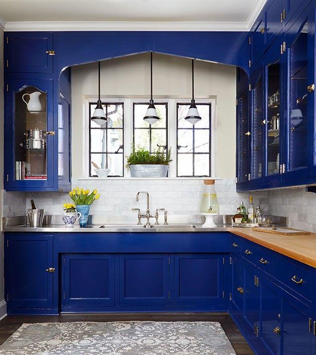 best 25 cobalt blue kitchens ideas on pinterest. Black Bedroom Furniture Sets. Home Design Ideas
