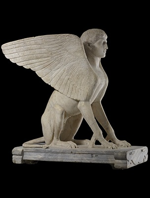 DECORATION: Sphinx. Lovely decoration. Maybe two at the entrance.
