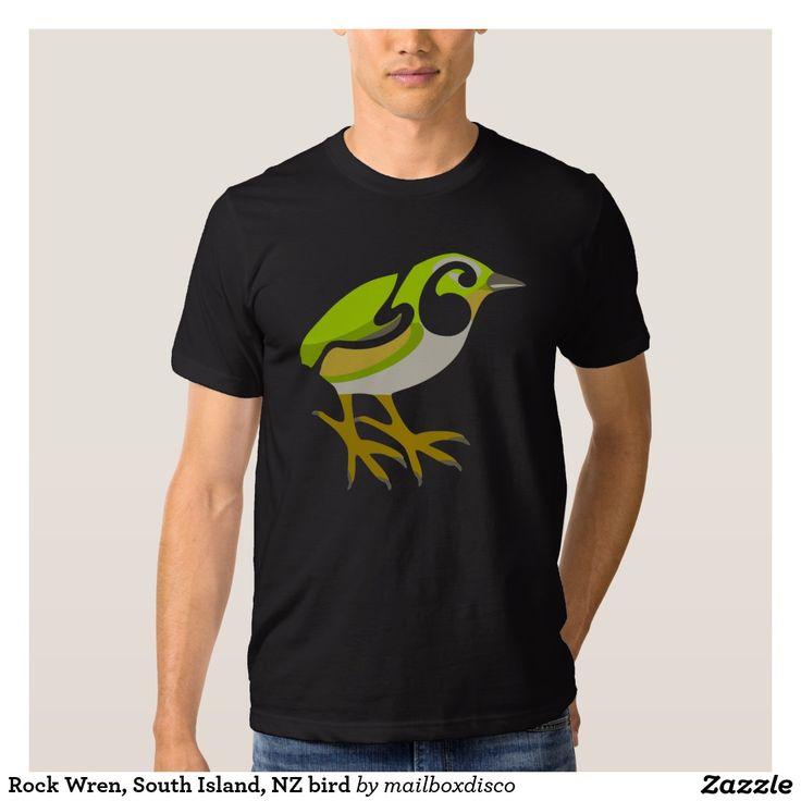 Rock Wren, South Island, NZ bird Tees