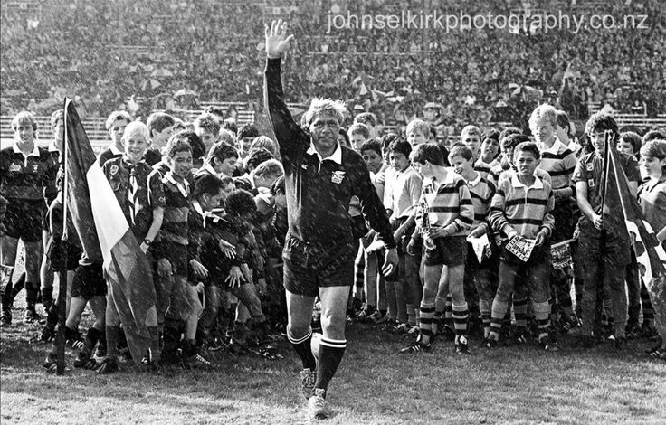 Waka Nathan (The black panther) at the Opening ceremony of the 1987 RWC at