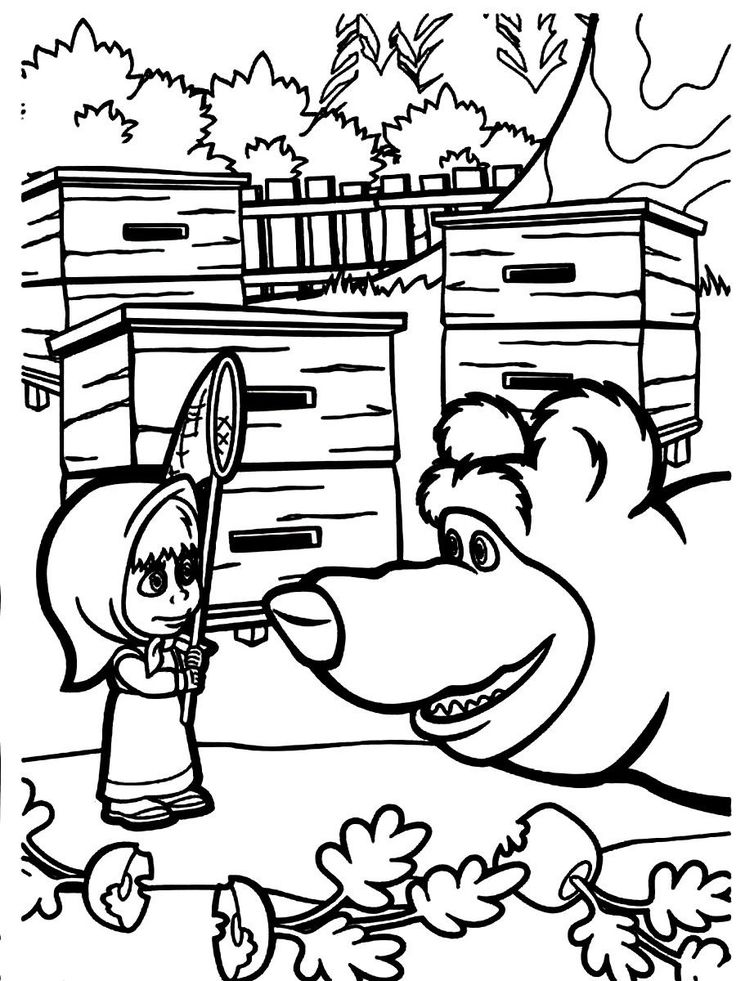 masha and the coloring pages for your masha y