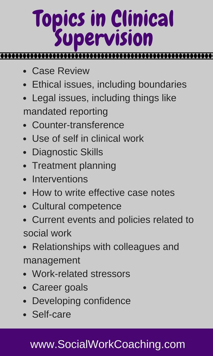 Topics in Clinical Supervision (can substitute social worker for any therapeutic professional) #clinicalsupervision  #psychotherapy