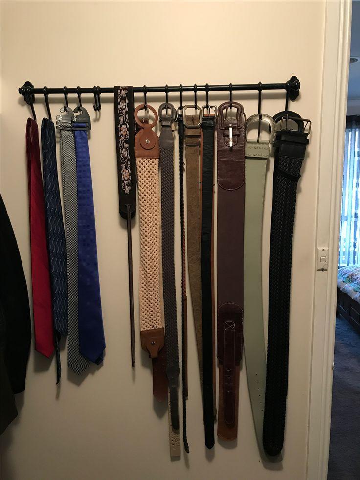 Belt rack using ikea kitchen rail