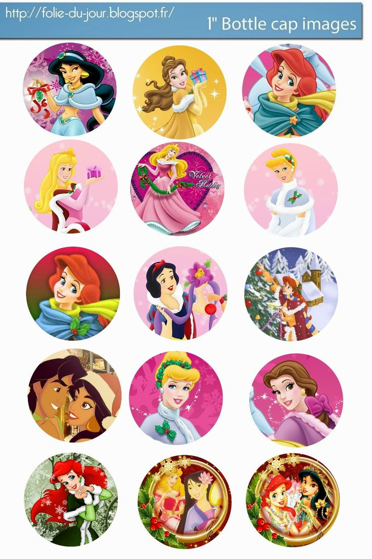 Free Bottle Cap Images: Free Disney Princess Christmas bottle cap template...