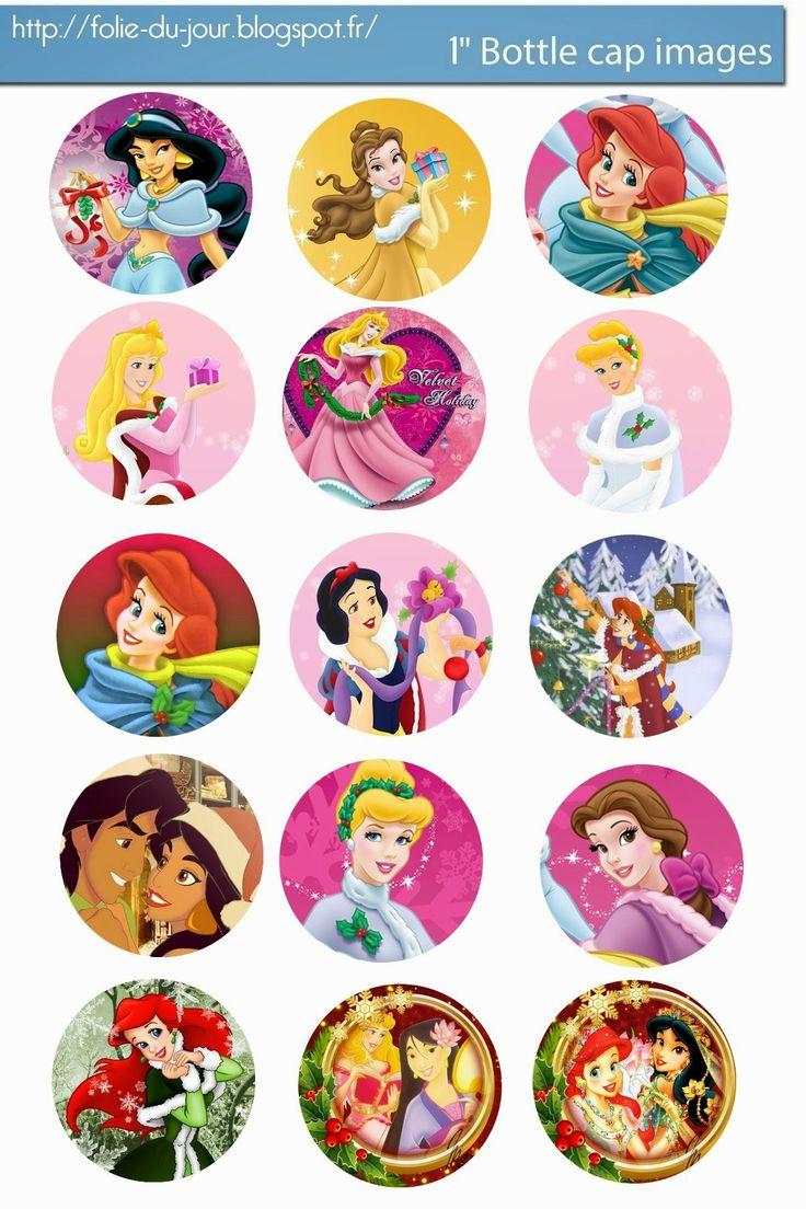 Free Bottle Cap Images: Free Disney Princess Christmas bottle cap template...