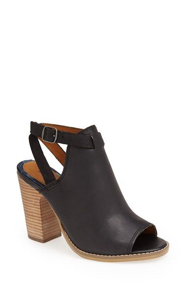 Free shipping and returns on Lucky Brand 'Lubov' Cutout Bootie (Women) at Nordstrom.com. A bold open heel and flirty peep-toe add modern flair to a leather bootie finished with a crisscrossing ankle strap. A chunky stacked heel adds leg-lengthening height.