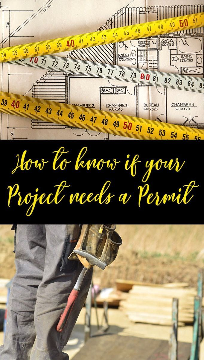 Working on DIY project and want to know if you need a building permit?     Certain types of projects need to meet code and require inspection.    This has great info about the types of projects that may require you to pull a permit.