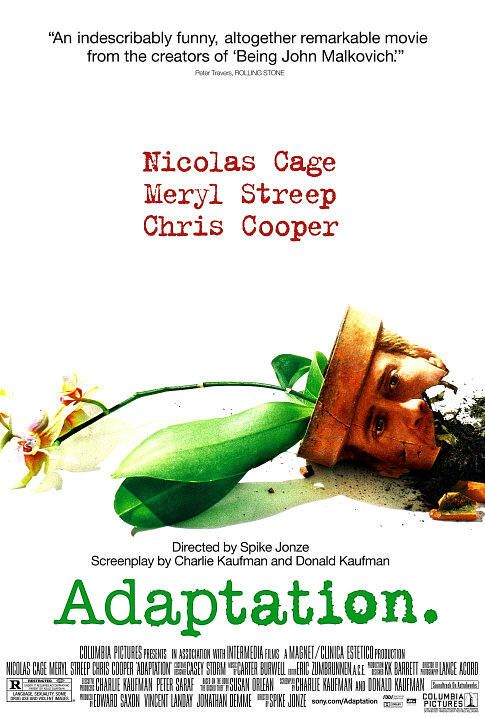 10 Authors Who Loved the Film Adaptations of Their Books: Movie Posters, Film, Adaptive 2002, Books, Spikes Jonz, Movies, Nicolas Cages, Favorite Movie, Meryl Streep