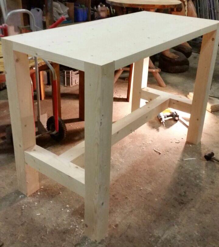 Nieuwe hangtafel xl in de maak