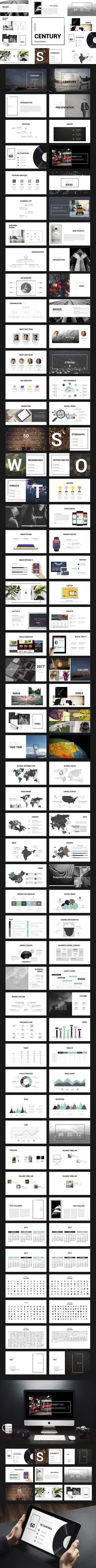 Century Powerpoint Template. Presentation Templates