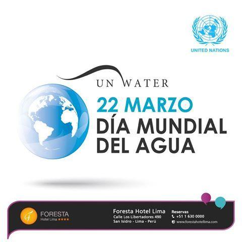 La celebración del Día Mundial del agua llama la atención sobre la importancia del agua dulce y de la gestión sostenible de los recursos acuíferos. Nos asociamos a esta iniciativa con un pensamiento solidario por todas aquellas personas afectadas por catástrofes naturales como las actuales en El Perú y en otras regiones del mundo.