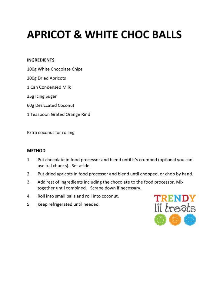 Apricot & White Chocolate Balls