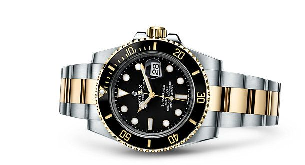 Rolex Submariner Date watch in Yellow Rolesor - combination of 904L steel and 18 ct yellow gold. Model: 116613LN