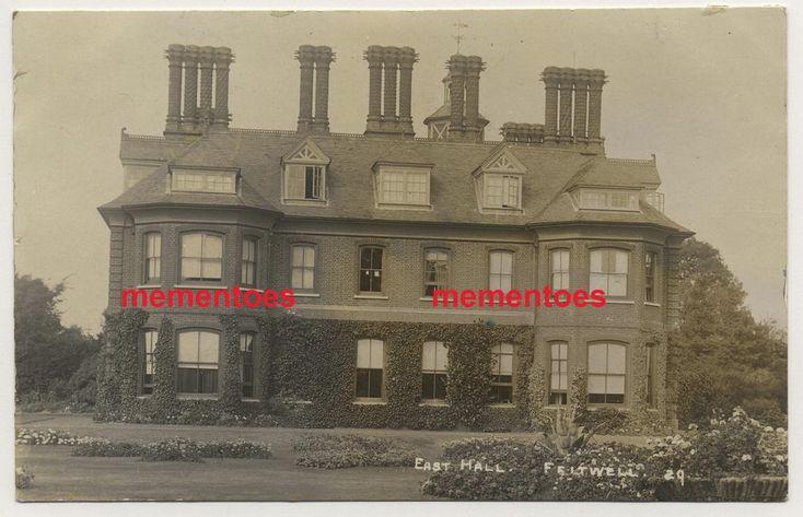 RP Postcard c1910 Feltwell near Brandon Norfolk East Hall West End Road