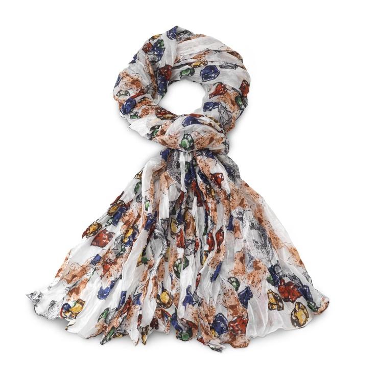 "Silk TOUS Grizzly Plis collection scarf. 200cm. x 75cm. - 78 3/4"" x 29 1/2  FALL WINTER 2012 COLLECTION AT TOUS WASHINGTON DC!"