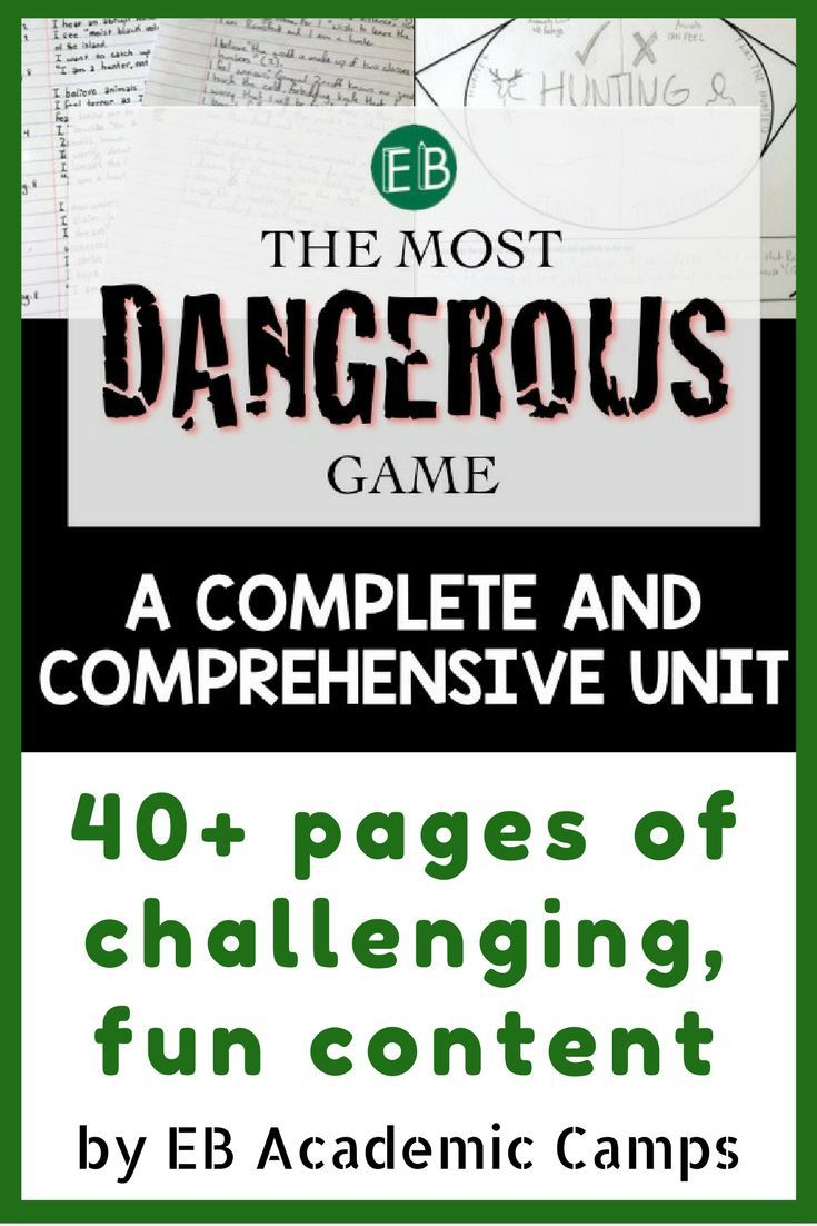 This fun, challenging, and comprehensive unit for The Most Dangerous Game is a surefire way to get your students engaged and interested in this intense short story. Includes everything you need from activities to teacher annotations! You'll love this curriculum unit for The Most Dangerous Game!