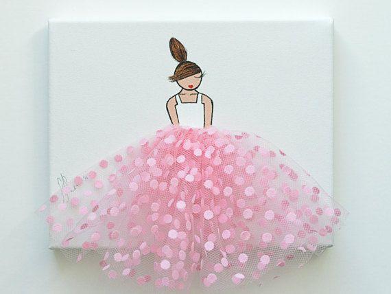 Original acrylique peinture ballerine peinture par ShenasiConcept