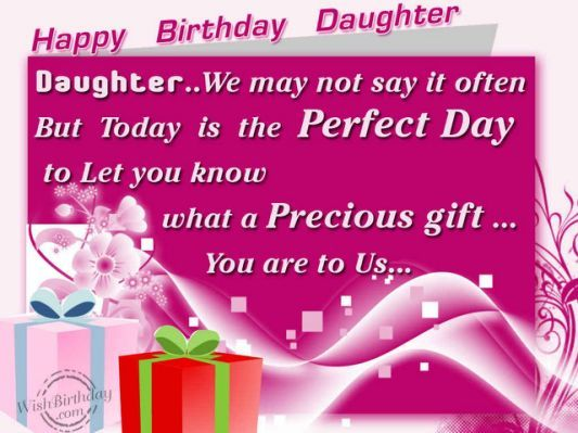 25 best ideas about Birthday Wishes Daughter – Words to Say in a Birthday Card