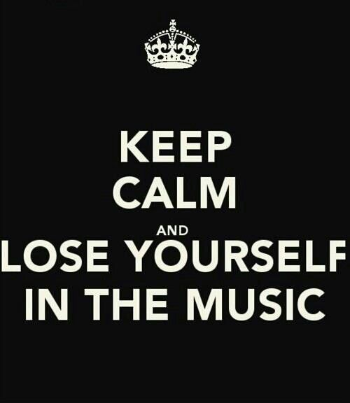 Music quote keep calm. Lose yourself in the music. Pocketful of Soul Sydney…