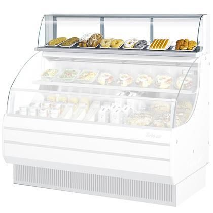 """TOMD40L 39"""" Non Refrigerated Top Case for Open Display Merchandiser: Low Profile White"""