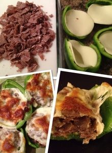 Food Perv in the Kitchen - Philly Cheesesteak Stuffed Bell Peppers [RECIPE] | Katie