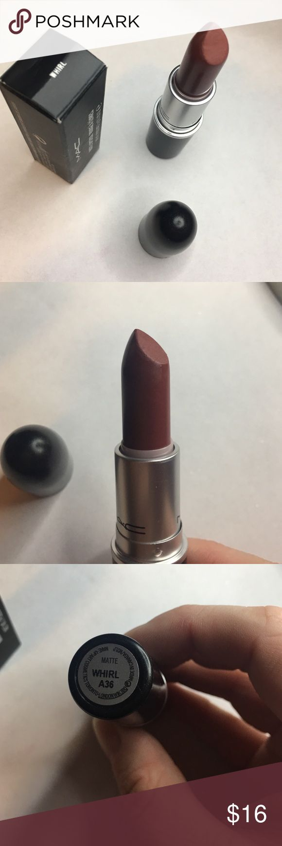 MAC Whirl Lipstick BNIB Only swatched once with a clean brush. MAC Cosmetics Makeup Lipstick
