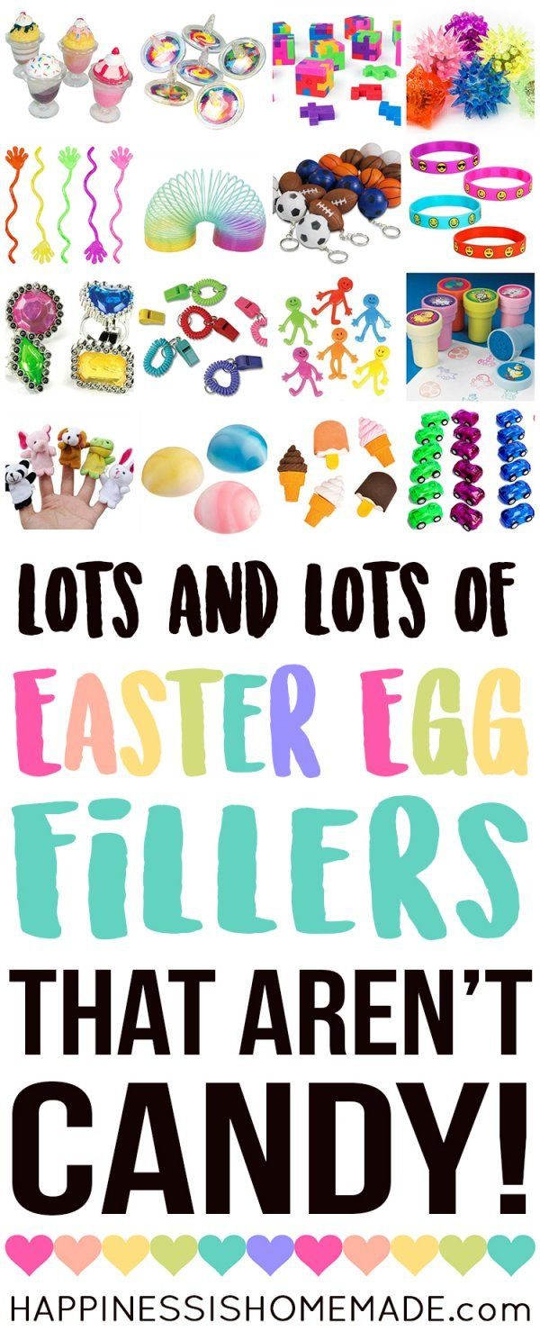 Non-Candy Easter Egg Filler Ideas - 25 Plus Egg Fillers That Aren't Candy - Looking for Easter Egg Filler Ideas that aren't candy? Here are 25+ awesome non-candy Easter Egg fillers that are sure to be a huge hit with your kids! Perfect for Easter egg hunts and baskets!