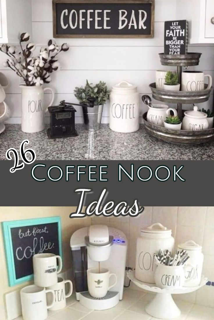 Diy Coffee Bar Ideas Stunning Farmhouse Style Beverage