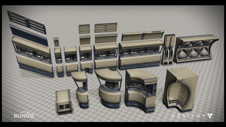 ArtStation - Bungie Studio - Destiny - Mars - Cabal Wall Set, Sid Moye