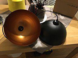 BAYTTER® Design 2x Industrielle Vintage LED Pendelleuchte Hängeleuchte Φ 30cm für E27 Leuchtmittel, schwarz und weiß wählbar, für Wohnzimmer Esszimmer Restaurant Keller Untergeschoss usw. (schwarz): Amazon.de: Warehouse Deals