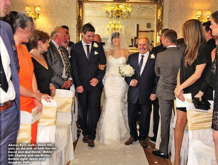 Kym Marsh - #Coronation #Street, #Corrie #OK Magazine. Veil by HMVeils, Wedding Dress by Suzanne Neville www.hmveils.co.uk