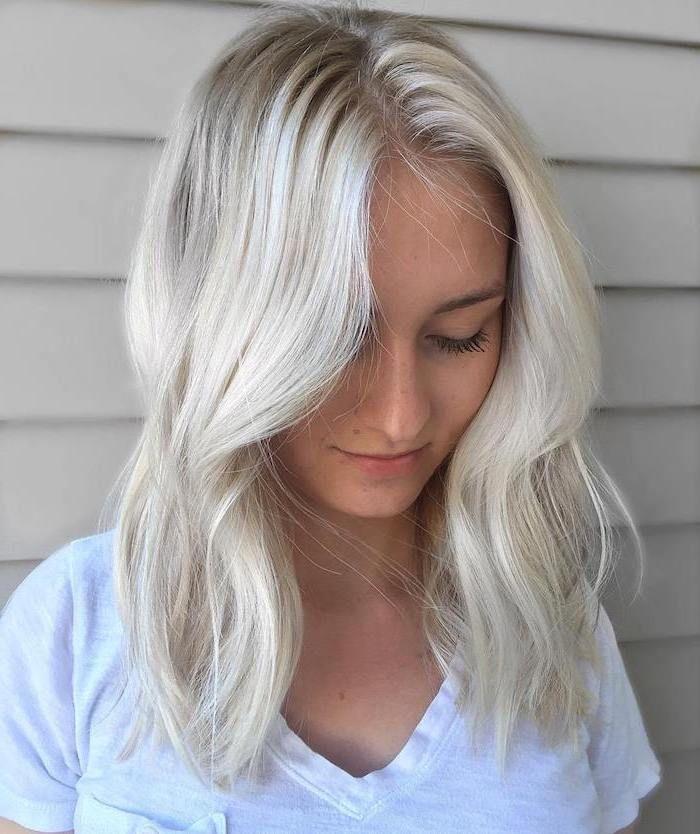 Die besten 25+ Silberblond Ideen auf Pinterest | Haarfarbe silberblond Blonde Welle und ...